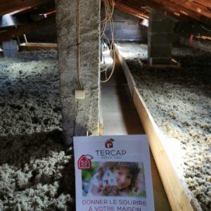 TERCAP réalise l'isolation thermique des combles perdus à Tarbes par soufflage de laine de roche
