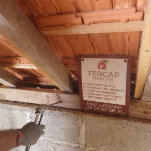 TERCAP traitement des bois de charpente contre les vrillettes et les capricornes à barinque dans le béarn