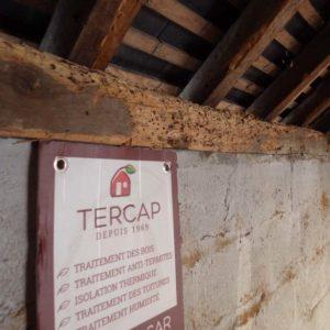 Tercap réalise le traitement d'une charpente contre les vrillettes et les capricornes à Nogueres