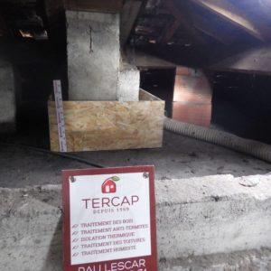 TERCAP réalise l'isolation thermique par soufflage de laine de roche dans les combles perdus d'une maison a Tarbes