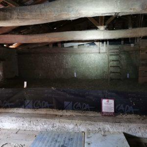 TERCAP isole les combles d'une maison a Saint Boes en béarn par soufflage de laine de roche