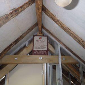 TERCAP réalise le traitement de charpente contre les vrillettes et les capricornes d'un appartement à Cauterets