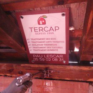 TERCAP réalise le traitement de charpente contre les vrillettes et les capricornes dans une copropriété de Pau