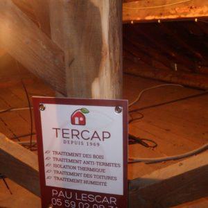 TERCAP réalise le traitement de charpente et l'isolation par soufflage à Billère