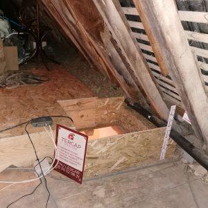 TERCAP réalise l'isolation thermique par soufflage dans les combles perdus d'une maison de Simacourbe dans le Béarn