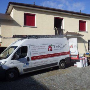 TERCAP réalise l'isolation thermique des combles perdus dans une maison à Arrien dans le Béarn