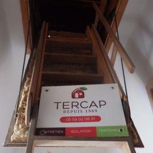 TERCAP isolation thermique par soufflage dans les combles perdus à Loubieng Béarn Pyrénées Atlantiques