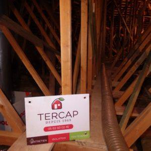 TERCAP isole les combles perdus à Géronce dans le Béarn